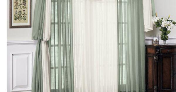 Sheer Curtain Idea Curtains And Tie Backs Pinterest