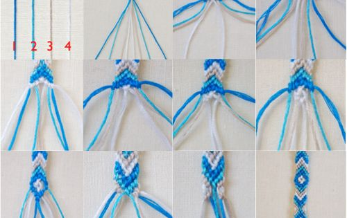 how to make different friendship bracelets step by step
