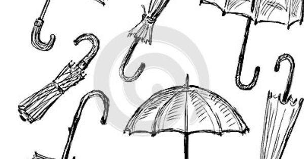 Umbrellas Sketches Umbrella Art Drawings Umbrella Drawing