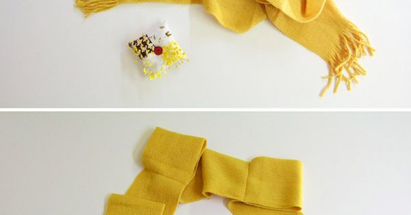 DIY Bows Scarf Tutorial Adorable kids scarf idea