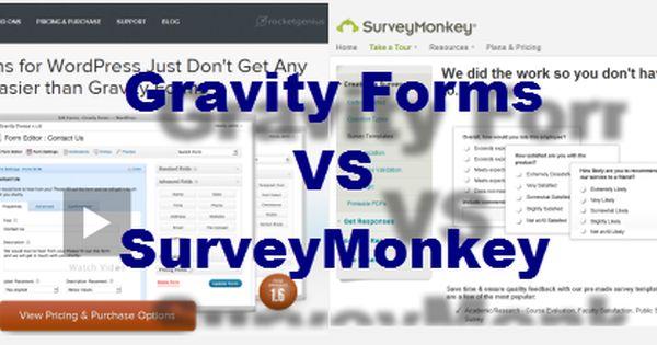 Gravity Forms Vs Survey Monkey Vs Formidable Forms Best Survey
