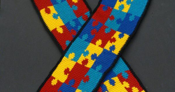 Autism Awareness Scarf ~ free crochet pattern @ Ravelry ...