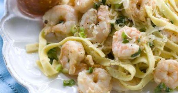 Fettuccine recipes, Roasted shrimp and Chili on Pinterest