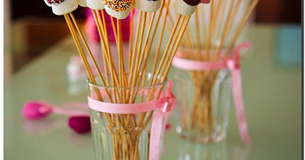 Marshmallows On A Stick Marshmallow Birthdays And Food