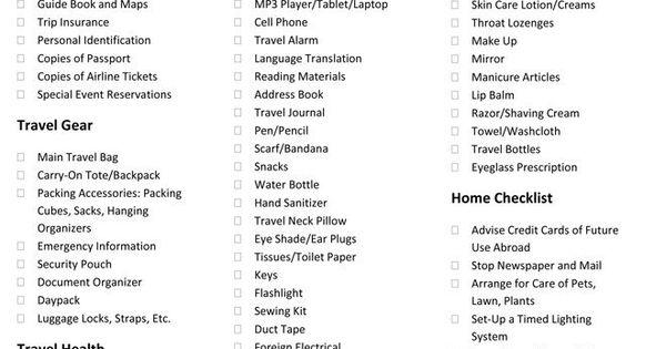 Pin By Hulda Bjornsdottir On Ferdalog Travel Checklist Packing