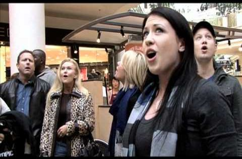 Christmas Flash Mob by Journey of Faith at South Bay Galleria -