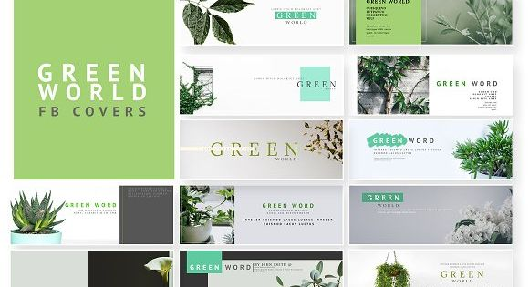 Green World – A green color themed facebook cover pack