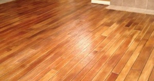 Stained Concrete Looks Like Hardwood Wood Plank