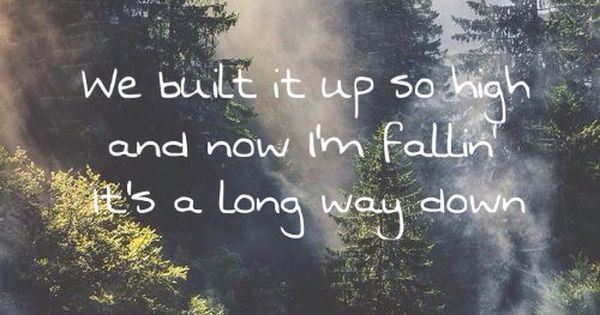 A Long Way Down Quotes: Long Way Down Song Lyrics By One Direction Album Made In