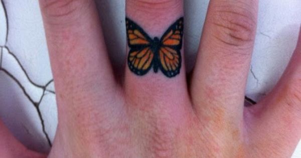 small monarch butterfly tattoo - Google Search -- more like this size