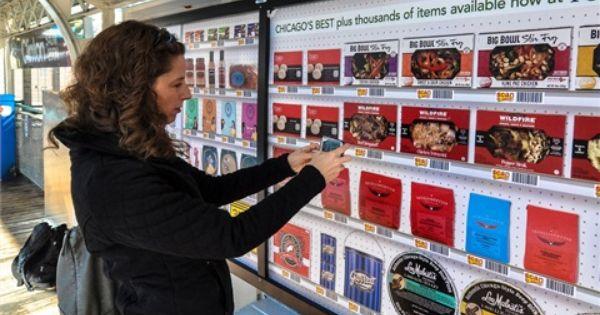 Peapod Com Opens 100 Digital Rail Station Grocery Stores Virtual
