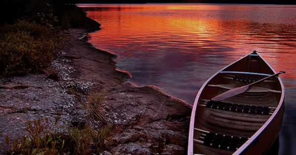 Sunset, Killarney Prov Park, Ontario, Canada. See it on the Northern Ontario