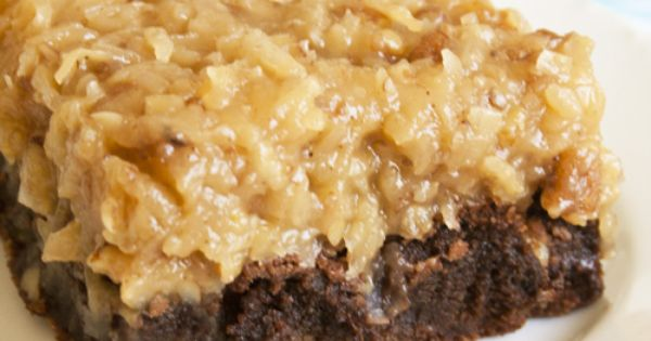 Over The Top German Chocolate Brownies. It passed my Dad's test. In