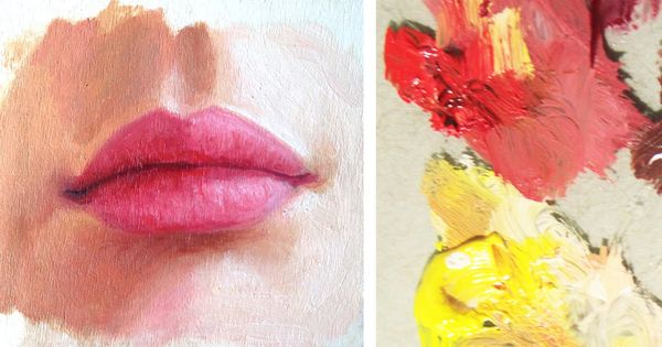 How To Paint A Realistic Mouth Lips Oil Painting Tutorial Watercolor Portrait Tutorial Watercolor Paintings For Beginners