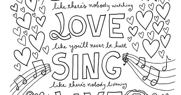 grown up coloring pages inspirational | FREE Coloring Book Pages for Grown-Ups: Inspiring Quotes ...