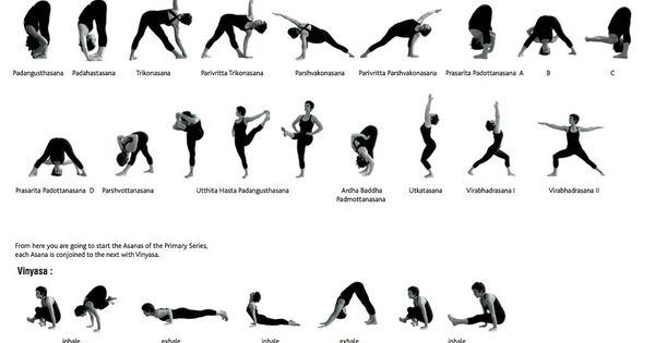 Series of Yoga poses. Great find for someone looking for a comprehensive