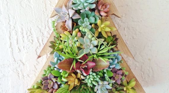 Christmas Tree Succulent Vertical Planter By