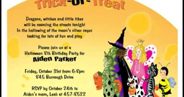 17 Best images about Halloween Invitations – Toddler Birthday Invitation Wording