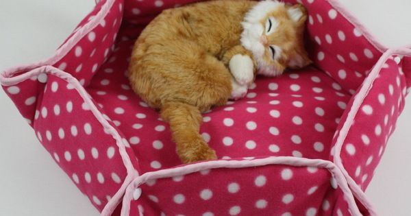 Flat & Snap Pet Bed - sewing project. For a cat or