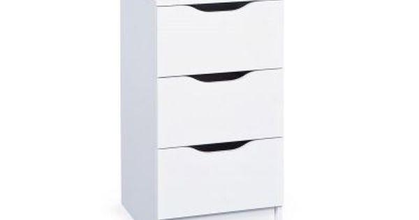 Meuble De Rangement Design 3 Tiroirs Blanc Draw Mobilier De Salon Meuble Rangement Commode