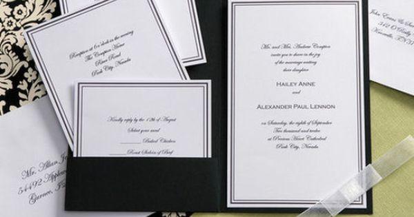 Wilton Wedding Invitations Template: Wilton® Elegance Invitation Kit-Black & White