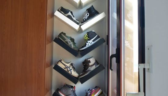 22 diy shoe storage ideas for small spaces lack shelf diy shoe storage and small closets. Black Bedroom Furniture Sets. Home Design Ideas