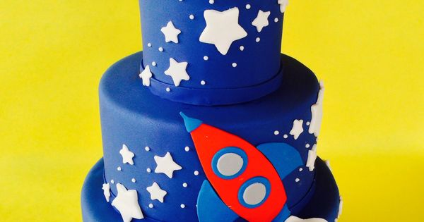 ... Birthday Cakes  Pinterest  Space party, Rocket cake and Space theme