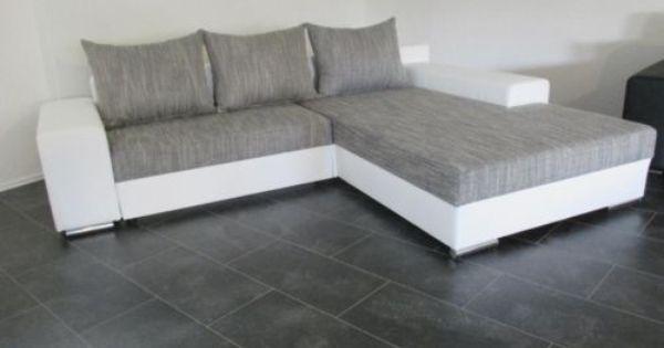 Bettsofa Schlafcouch Sofa Couch Wohnlandschaft Lederimitat Weiss Couch Wohnlandschaft Wohnen Sofa Couch