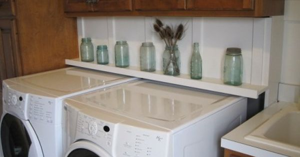 Diy Pink Toes And Power Tools Laundry Room Shelves Laundry Room Remodel Washer And Dryer