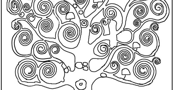 gustav klimt tree of life coloring page