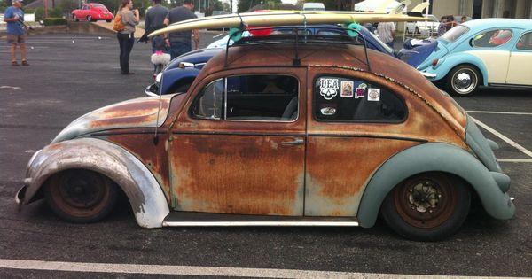 Slammed beetle on air suspension at Tulsa VW Show | Awesome Cars | Pinterest | Slammed, Beetles ...