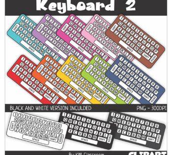 Rainbow Keyboard White Keys Clip Art Clip Art Keyboard Lessons Learn Piano