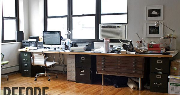 a sharp office makeover complete with a diy retractable standing desk ikea hack office. Black Bedroom Furniture Sets. Home Design Ideas