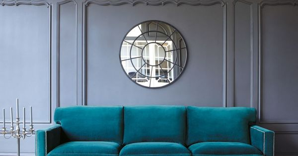 sofa 4 5 sitzer aus samt blau blue velvet french houses and front rooms. Black Bedroom Furniture Sets. Home Design Ideas