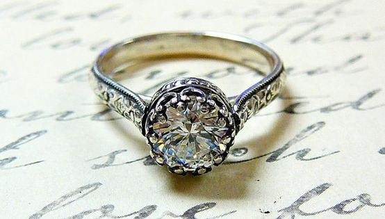 Vintage wedding ring BUT with a REAL diamond in it.