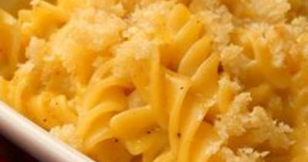 Campbells Baked Macaroni and Cheese Recipe food