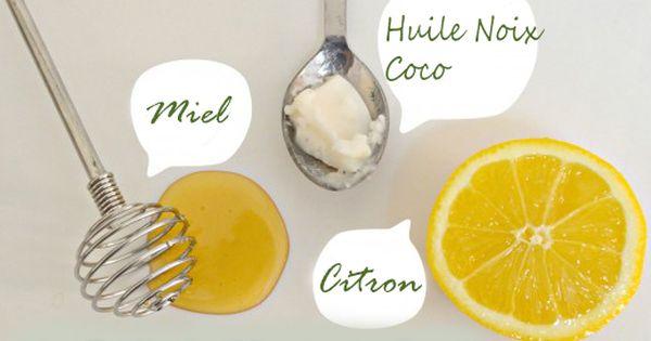 masque visage au miel et huile de coco citron beaut. Black Bedroom Furniture Sets. Home Design Ideas