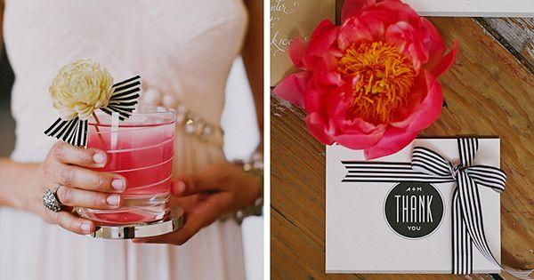 Hochzeit schwarz weiß gestreift (4)  Deko Hochzeit  Pinterest ...