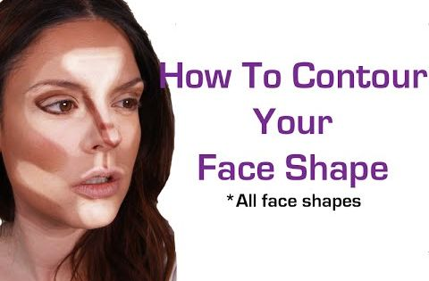 How to Contour Your Face Shape (makeup for beginners) face ...