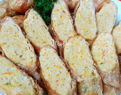 Elsa Elwin Chicken Shrimp Roll Roti Gulung Udang Daging