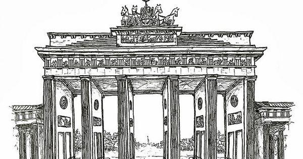 Brandenburg Gate Drawing Zeichnungen Bilder Zeichnung