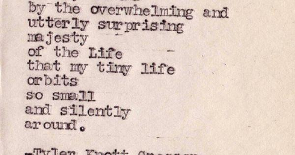 Typewriter Series 304by Tyler Knott Gregson Breathtaking quote