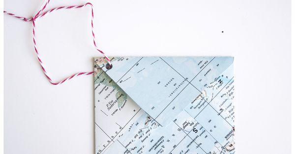 wie du aus einer atlas seite einen briefumschlag falten kannst briefumschlag basteln. Black Bedroom Furniture Sets. Home Design Ideas