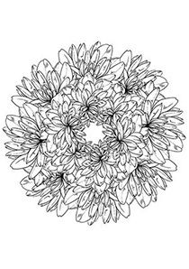 Flower Wreath Coloring Page Flower Coloring Pages Free