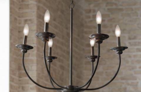 Kichler Lighting Vara Collection 5 light Distressed Black Chandelier