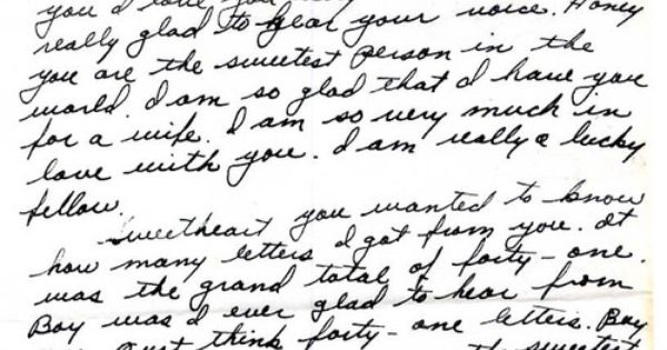 World War II Love Letter Read The Whole Thing Here