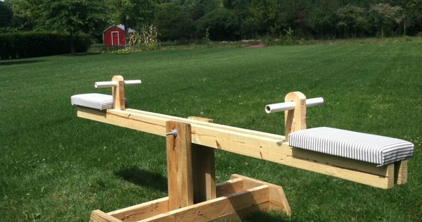 Diy Ana White Teeter Totter Seesaw From Scrap Wood Ana
