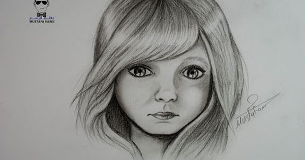 Drawing By Mustafa Saadi Cartoon Girl Drawing Drawings Girl Cartoon