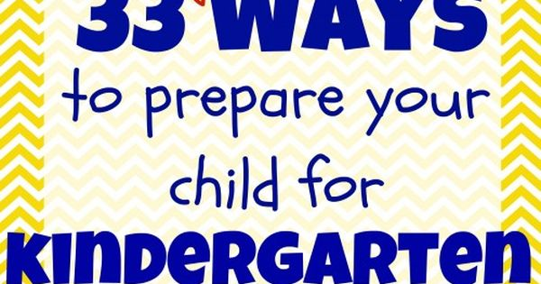 Kindergarten Preparation Activities List