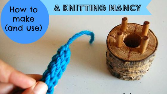 Knitting Nancy Spotlight : Make your own knitting nancy from a piece of wood and